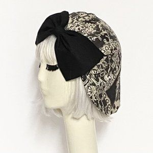 Lace turban hat bow